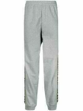 Vetements side logo stripe track pants - Grey