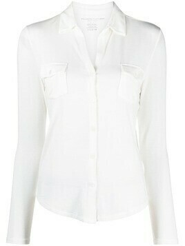Majestic Filatures Anya chest pockets shirt - White