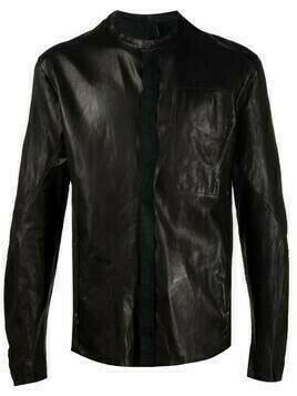 Masnada panelled leather jacket - Black