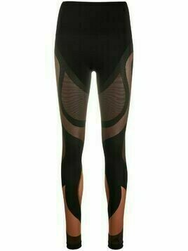 Wolford x adidas Motion panelled mid-rise leggings - Brown