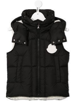 Moncler Enfant hooded down gilet - Black