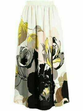 Adam Lippes high-waisted floral skirt - White