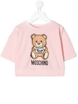 Moschino Kids teddy bear short sleeve sweatshirt - PINK