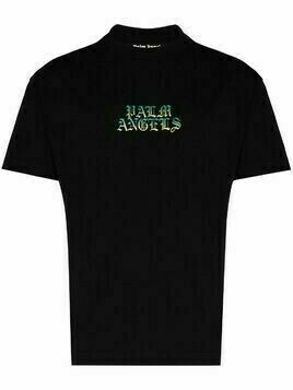 Palm Angels Hue gothic logo print T-shirt - Black