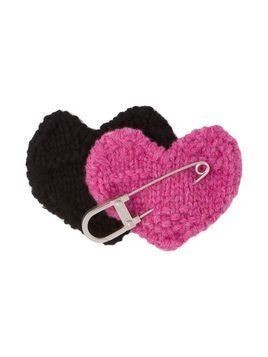 Prada safety pin heart - PINK