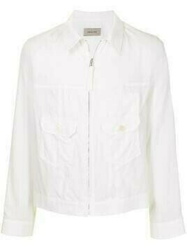 Bed J.W. Ford zipped bomber jacket - White