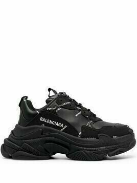 Balenciaga Triple S low-top sneakers - Black