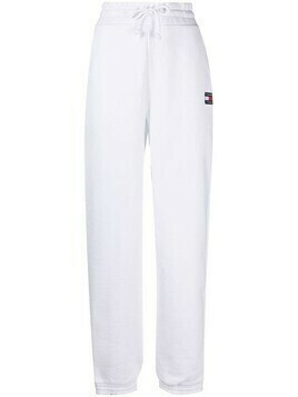 Tommy Jeans logo-embroidered cotton track pants - White