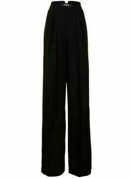 Maticevski pressed-crease zipped palazzo trousers - Black