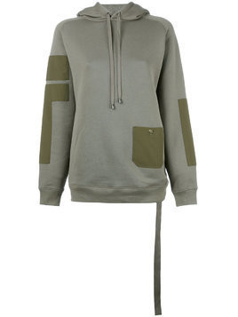 Helmut Lang patch pocket hoodie - Green