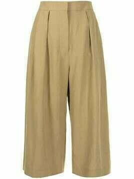 Altuzarra Cooley cropped trousers - Brown