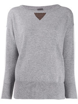 Lorena Antoniazzi fine knit long sleeve top - Grey
