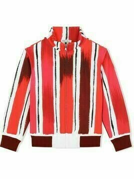 Dolce & Gabbana Kids painted stripe track top - Red