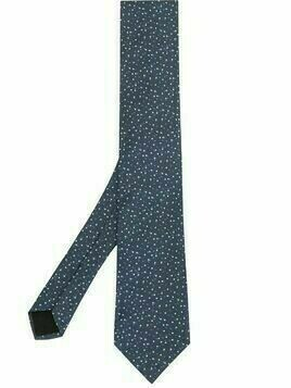 BOSS speckle print tie - Blue