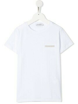Paolo Pecora Kids TEEN appliqué cotton T-shirt - White