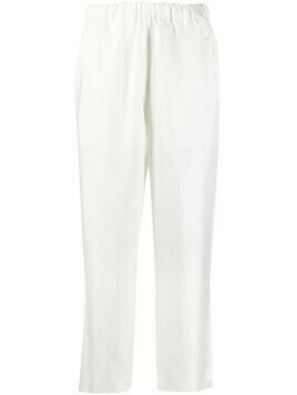 Sofie D'hoore Phuket silk cropped trousers - White
