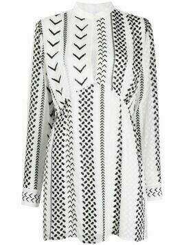 Lala Berlin chevron knit dress - White