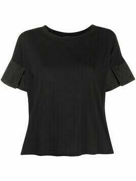 Roberto Collina contrast sleeve T-shirt - Black