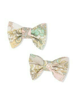 Bonpoint two-piece bow clips - Neutrals