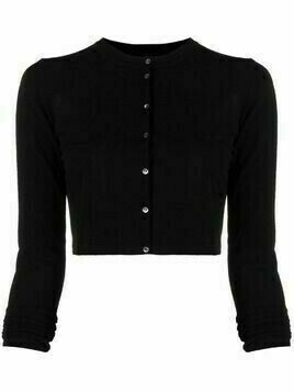 Roberto Collina cropped button-up cardigan - Black