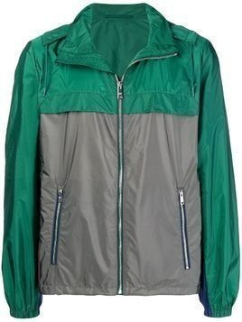 Prada two-tone windbreaker jacket - Green