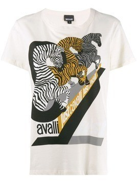 Just Cavalli zebra print T-shirt - Neutrals