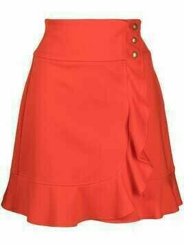 Pinko high-rise ruffle-detailed miniskirt - Red