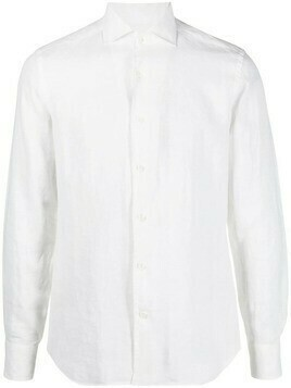 Corneliani long-sleeve button-fastening shirt - White
