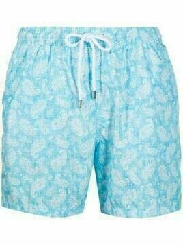 Barba paisley swim shorts - Blue