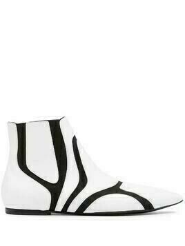 Balenciaga Pre-Owned panelled ankle boots - White