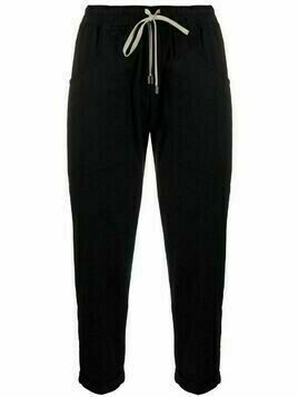 Gentry Portofino cropped cotton-blend trousers - Black