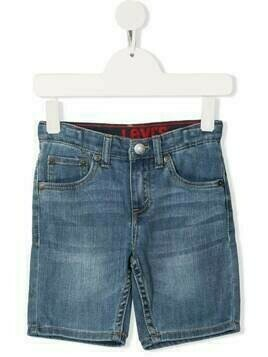 Levi's Kids slim-cut denim shorts - Blue
