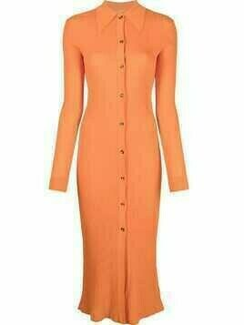 Dodo Bar Or ribbed-knit midi dress - Orange