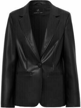 Unreal Fur Bell faux leather blazer - Black