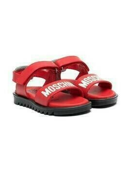 Moschino Kids logo-print sandals - Red