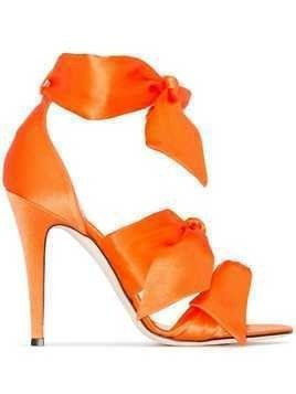 Gia Couture Katia 120mm bow sandals - ORANGE