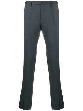 Incotex tailored straight-leg trousers - Grey