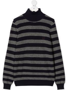 Sun 68 Kids striped knitted jumper - Blue
