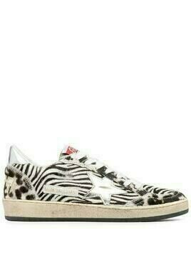 Golden Goose Superstar zebra low-top sneakers - Black