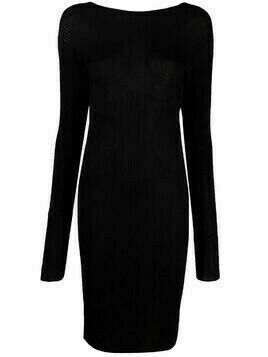 Laneus open-back knit dress - Black
