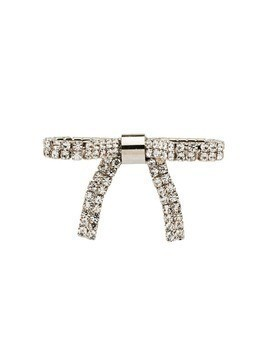 Miu Miu crystal-embellished brooch - Metallic