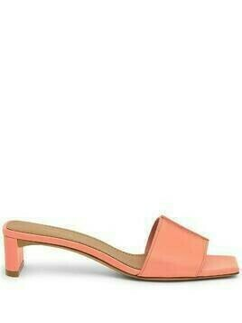 Mansur Gavriel square toe leather sandals - Orange