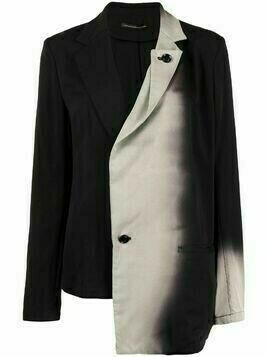 Y's asymmetric gradient-effect blazer - Black