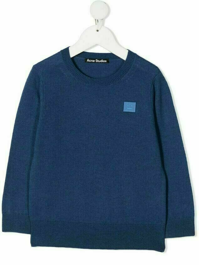 Acne Studios Face-patch wool jumper - Blue