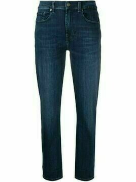 7 For All Mankind mid-rise slim fit jeans - Blue