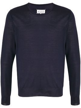 Maison Margiela crew neck jumper - Blue