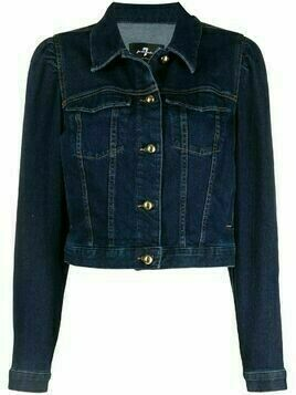 7 For All Mankind cropped denim jacket - Blue