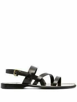 Silvano Sassetti buckle-fastening leather sandals - Brown