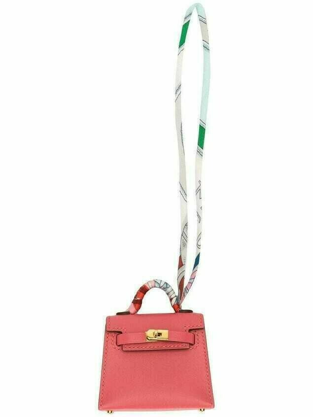 Hermès 2020 pre-owned Micro Kelly Twilly bag charm - PINK