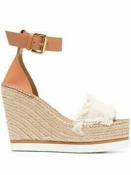 See by Chloé Glyn wedge espadrille sandals - Neutrals